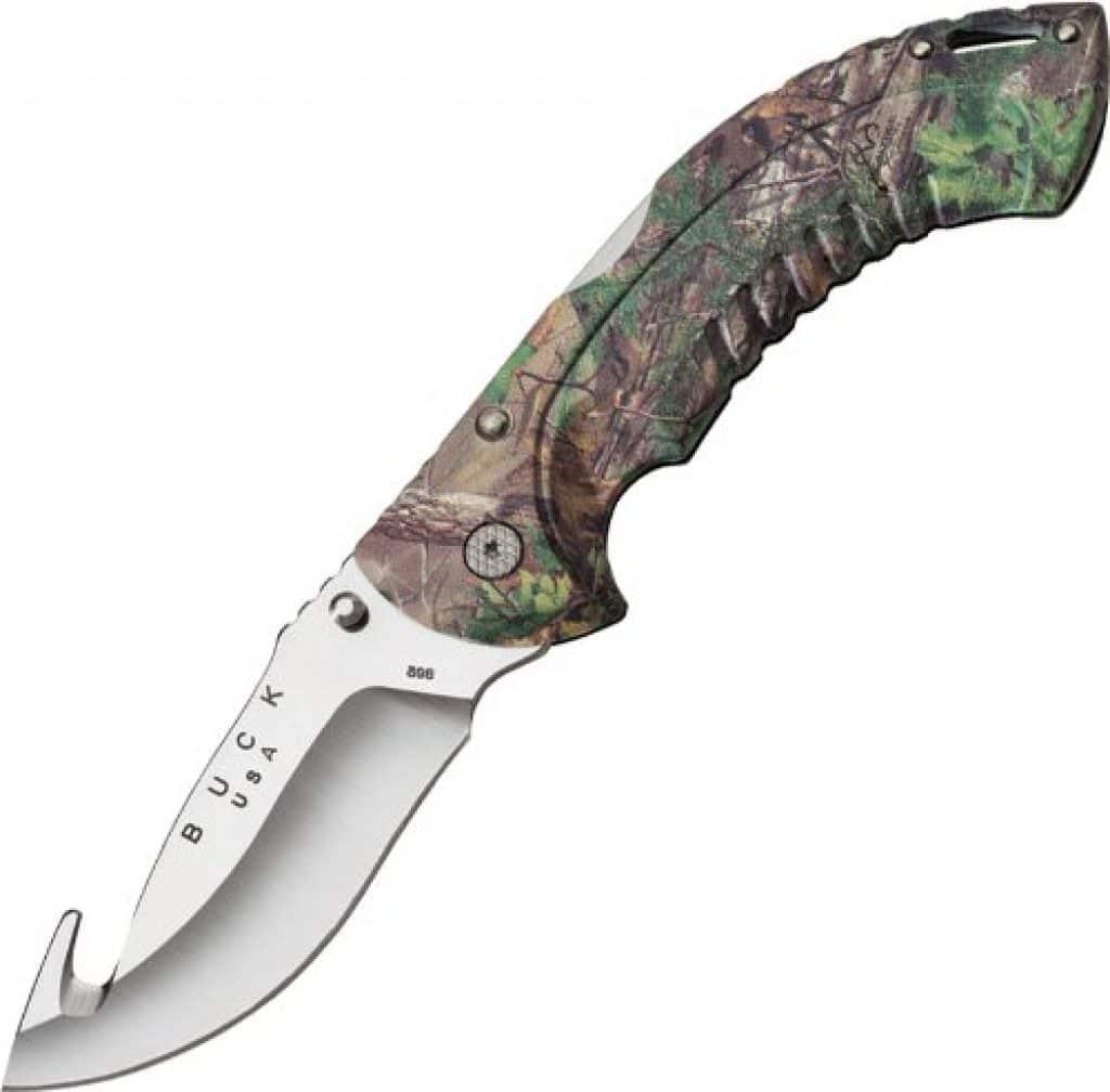 Buck Omni Hunter n°398 Couteau avec manche camouflé